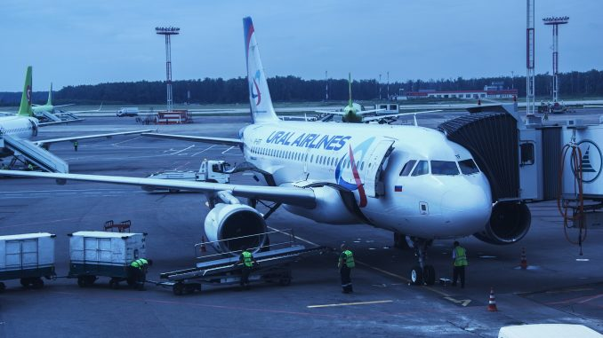 Flugzeug Ural Airlines in Domodedowo