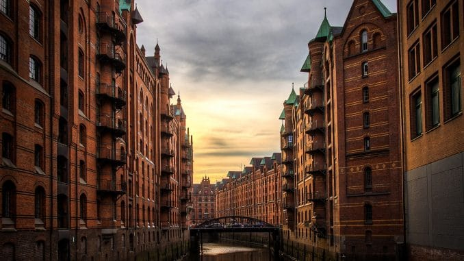 Speicherstadt in Hamburg Visum Russland
