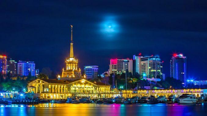 Sutschi: HAfen bei nacht - Russlandvisum von Paneurasia