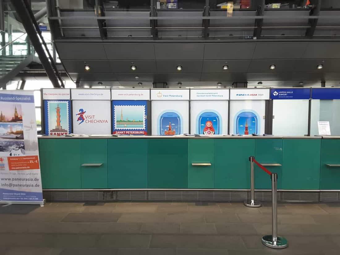 Russland-Spezialist: Online Reisebüro Paneurasia.de, Visit Petersburg und Visit Chechnya am Flughafen Leipzig/Halle (LEJ)