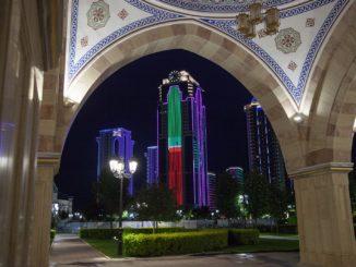 Tschetschenien - Hauptstadt Grosny nachts - Grosny City