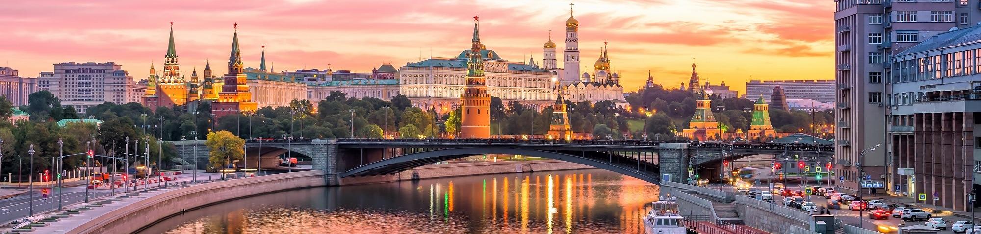 Russland Stadt Fluss Moskau