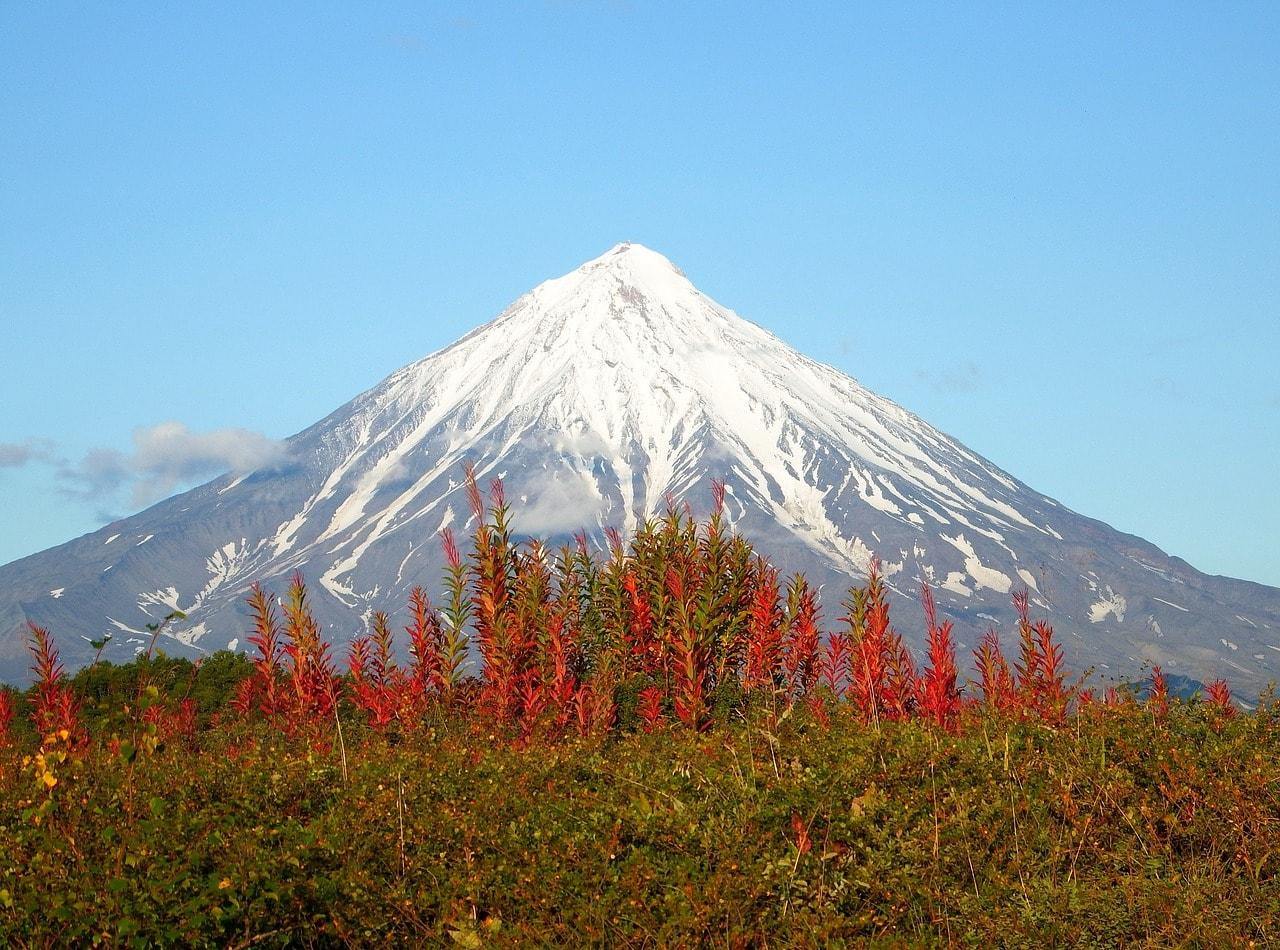 Kljutschewskaja Sopka Vulkan(mit 4688 Meter der höchste Vulkan Kamtschatkas)